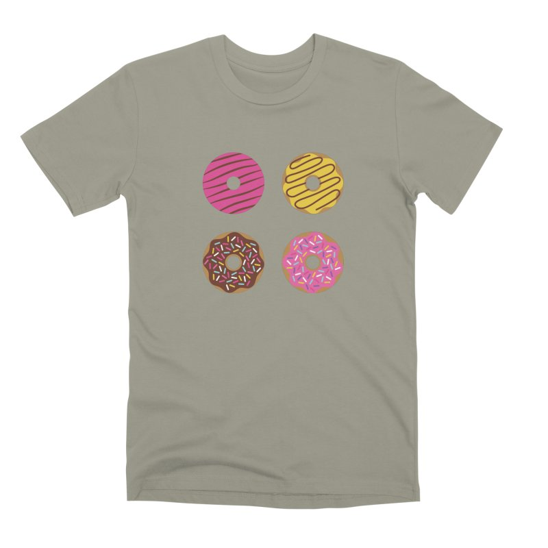 Sweet Donuts Pattern Men's Premium T-Shirt by abstractocreate's Artist Shop