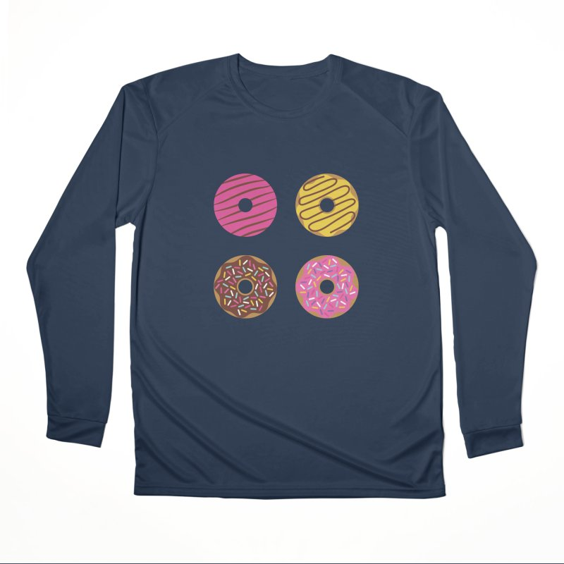 Sweet Donuts Pattern Men's Performance Longsleeve T-Shirt by abstractocreate's Artist Shop