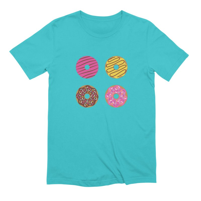 Sweet Donuts Pattern Men's Extra Soft T-Shirt by abstractocreate's Artist Shop