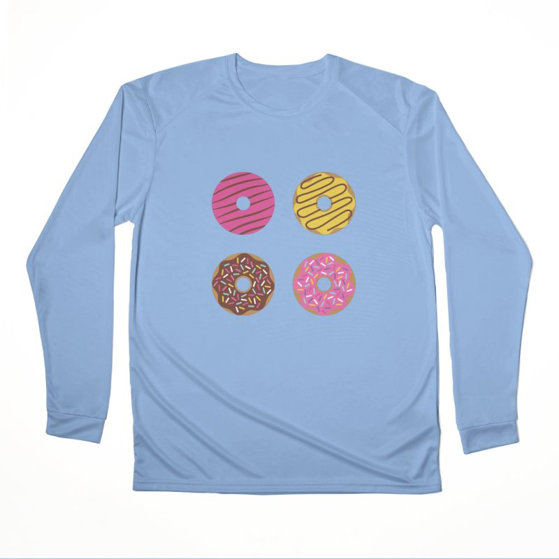 Sweet Donuts Pattern Women's Performance Unisex Longsleeve T-Shirt by abstractocreate's Artist Shop
