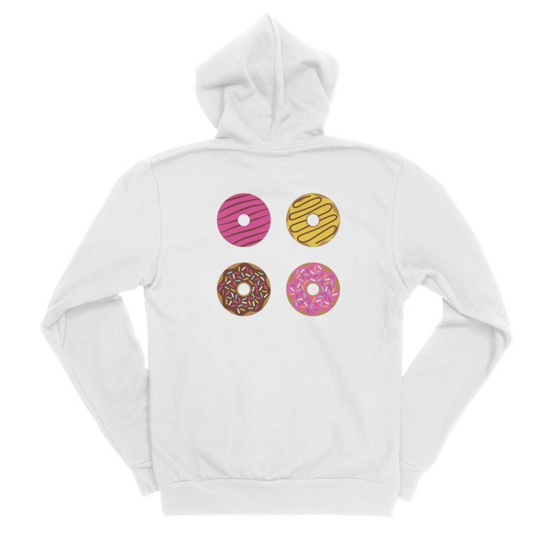 Sweet Donuts Pattern Women's Sponge Fleece Zip-Up Hoody by abstractocreate's Artist Shop