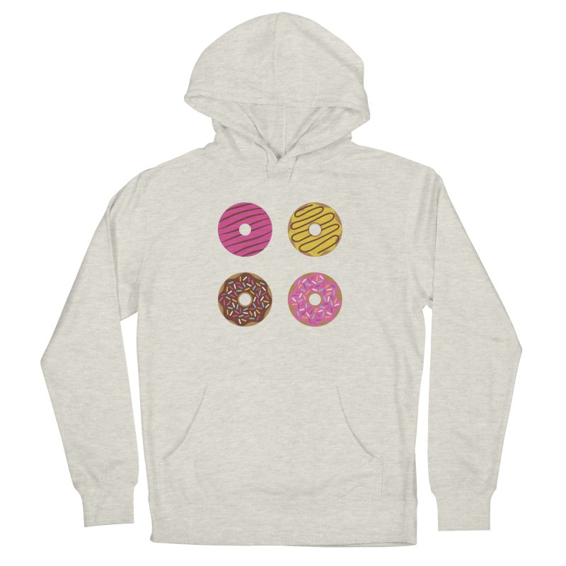 Sweet Donuts Pattern Women's French Terry Pullover Hoody by abstractocreate's Artist Shop
