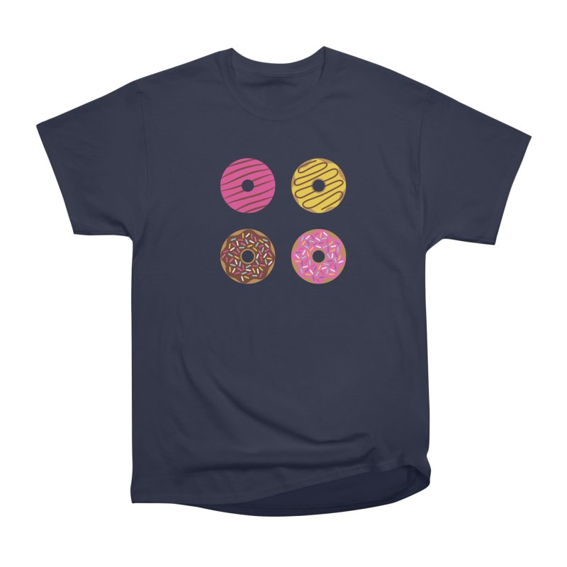 Sweet Donuts Pattern Men's Heavyweight T-Shirt by abstractocreate's Artist Shop
