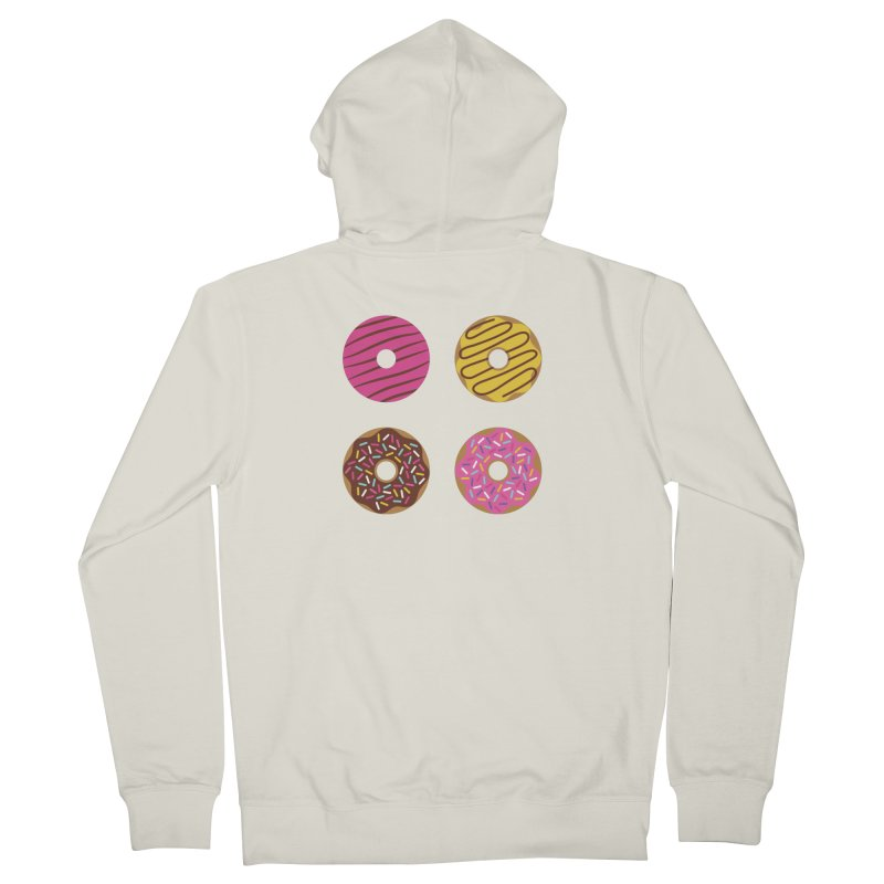 Sweet Donuts Pattern Women's French Terry Zip-Up Hoody by abstractocreate's Artist Shop