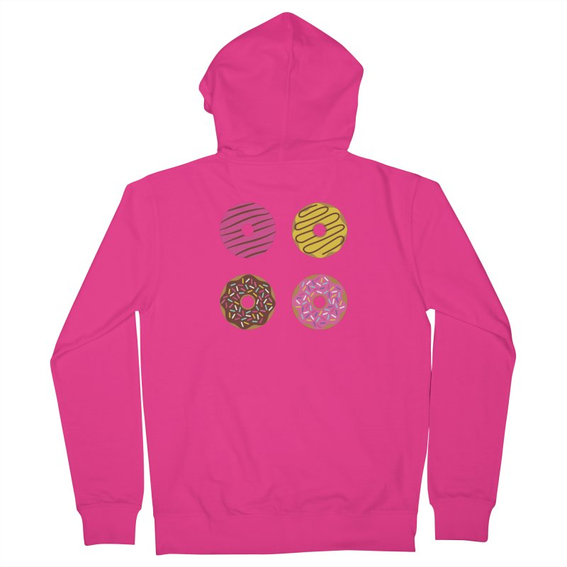 Sweet Donuts Pattern Men's French Terry Zip-Up Hoody by abstractocreate's Artist Shop