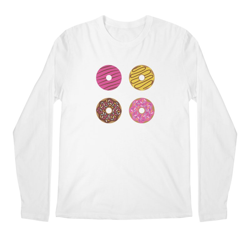 Sweet Donuts Pattern Men's Regular Longsleeve T-Shirt by abstractocreate's Artist Shop