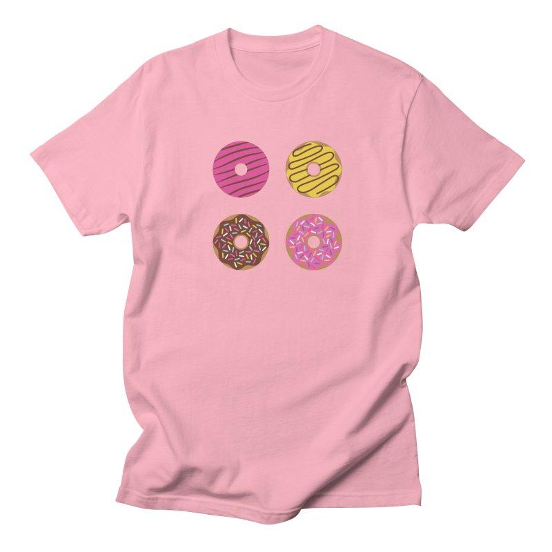 Sweet Donuts Pattern Women's Regular Unisex T-Shirt by abstractocreate's Artist Shop