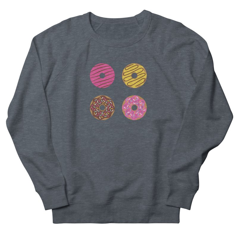 Sweet Donuts Pattern Women's French Terry Sweatshirt by abstractocreate's Artist Shop