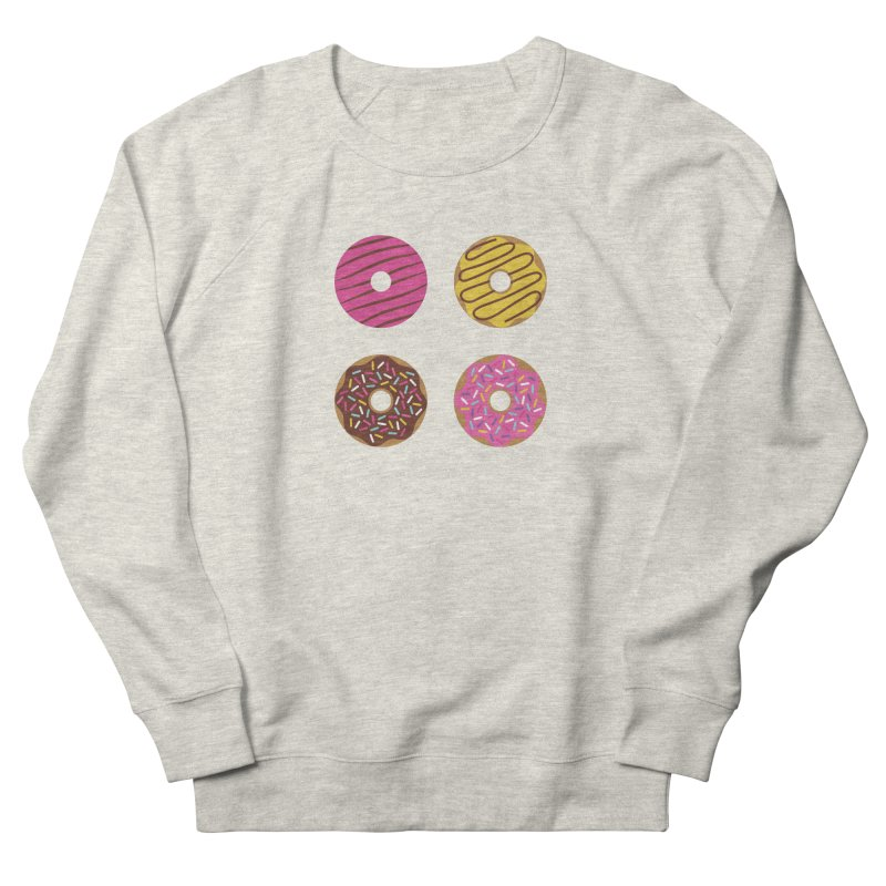 Sweet Donuts Pattern Men's French Terry Sweatshirt by abstractocreate's Artist Shop