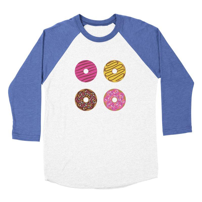 Sweet Donuts Pattern Women's Baseball Triblend Longsleeve T-Shirt by abstractocreate's Artist Shop