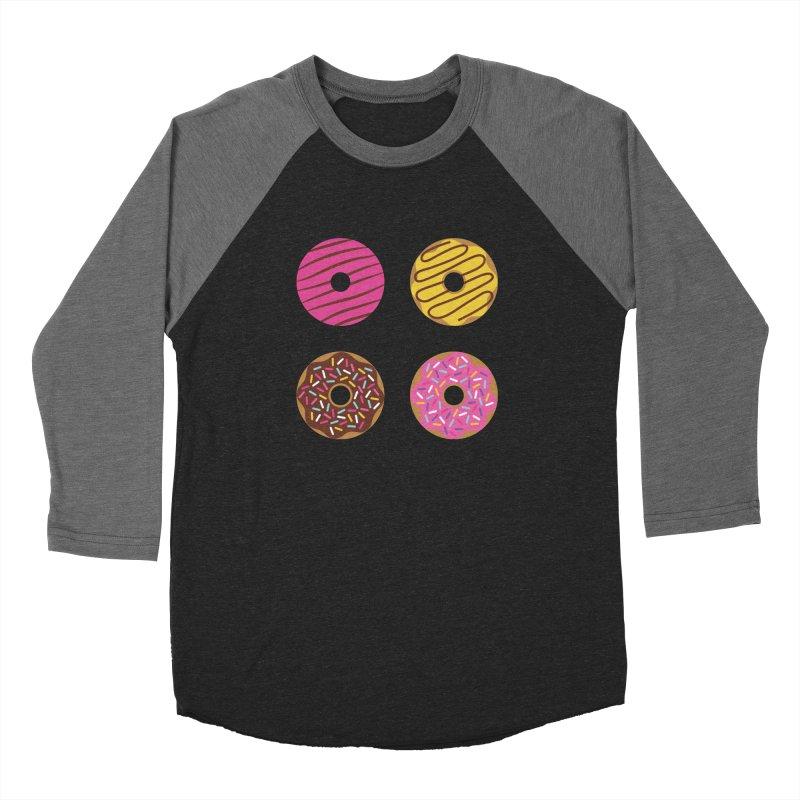 Sweet Donuts Pattern Men's Baseball Triblend Longsleeve T-Shirt by abstractocreate's Artist Shop
