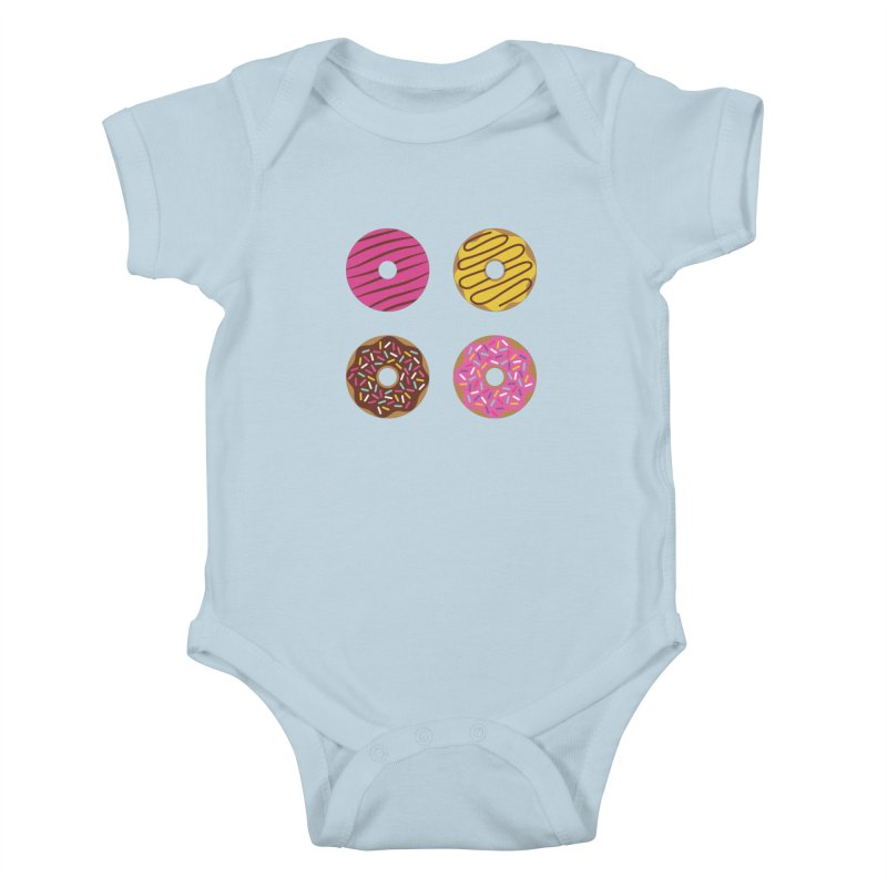 Sweet Donuts Pattern Kids Baby Bodysuit by abstractocreate's Artist Shop