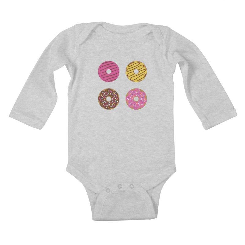 Sweet Donuts Pattern Kids Baby Longsleeve Bodysuit by abstractocreate's Artist Shop