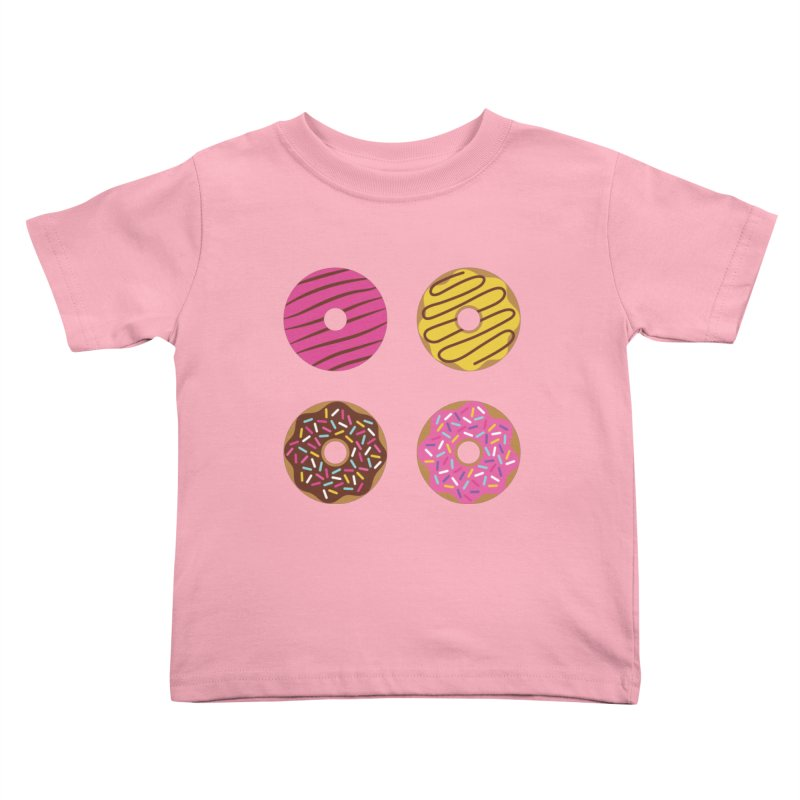 Sweet Donuts Pattern Kids Toddler T-Shirt by abstractocreate's Artist Shop