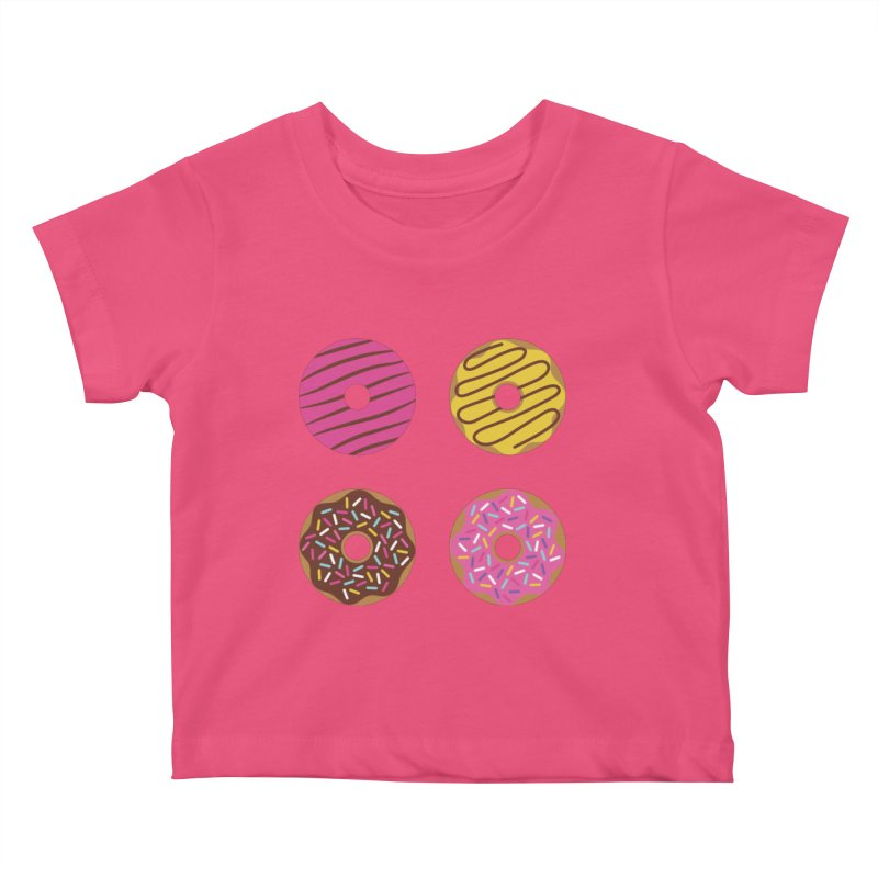 Sweet Donuts Pattern Kids Baby T-Shirt by abstractocreate's Artist Shop