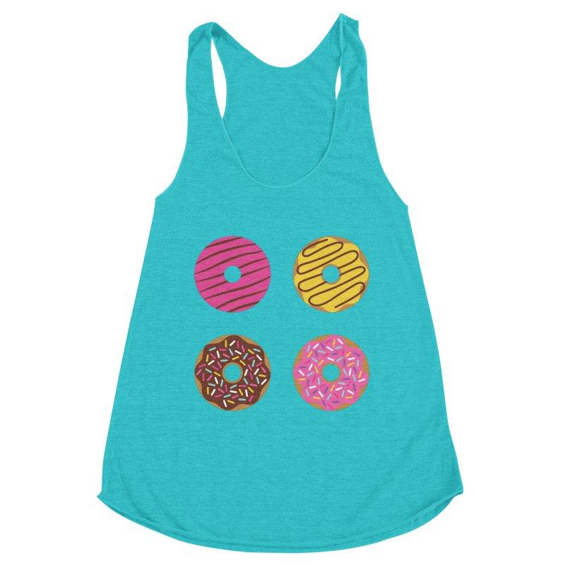 Sweet Donuts Pattern Women's Racerback Triblend Tank by abstractocreate's Artist Shop