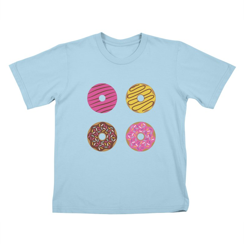 Sweet Donuts Pattern Kids T-Shirt by abstractocreate's Artist Shop