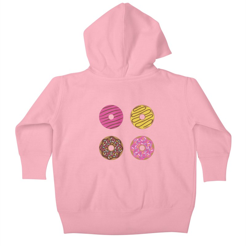 Sweet Donuts Pattern Kids Baby Zip-Up Hoody by abstractocreate's Artist Shop