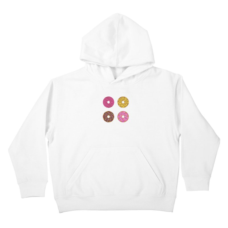 Sweet Donuts Pattern Kids Pullover Hoody by abstractocreate's Artist Shop