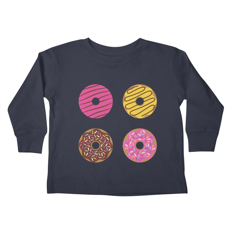 Sweet Donuts Pattern Kids Toddler Longsleeve T-Shirt by abstractocreate's Artist Shop