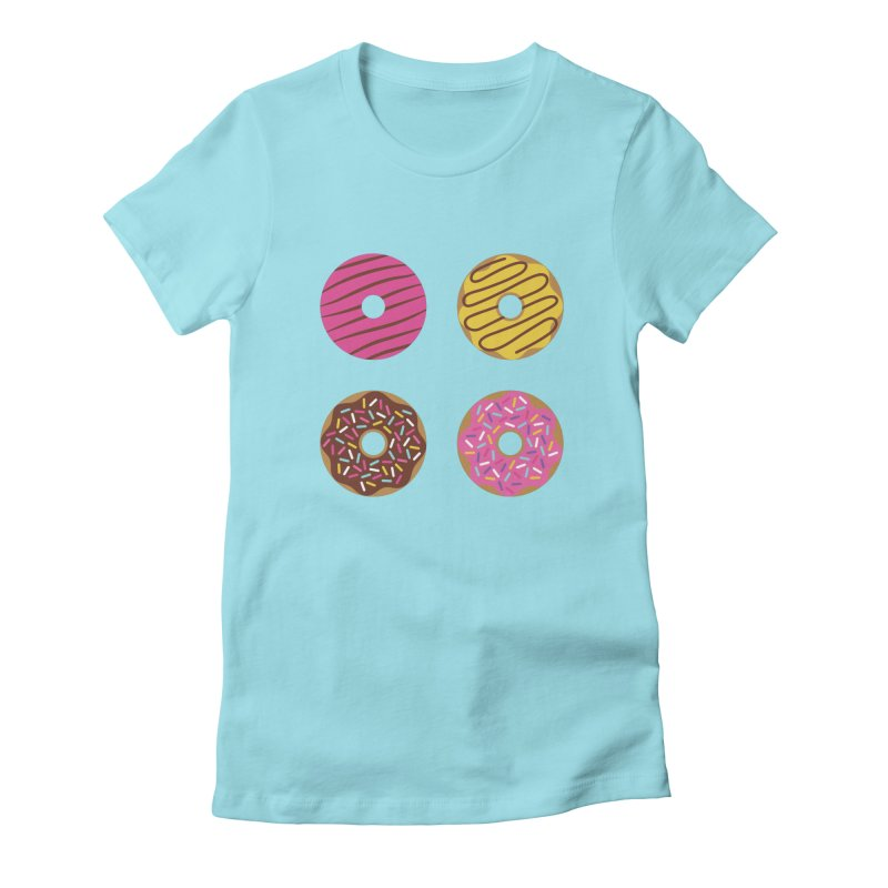 Sweet Donuts Pattern Women's Fitted T-Shirt by abstractocreate's Artist Shop