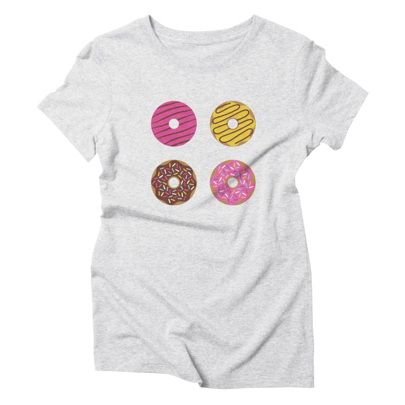 Sweet Donuts Pattern Women's Triblend T-Shirt by abstractocreate's Artist Shop