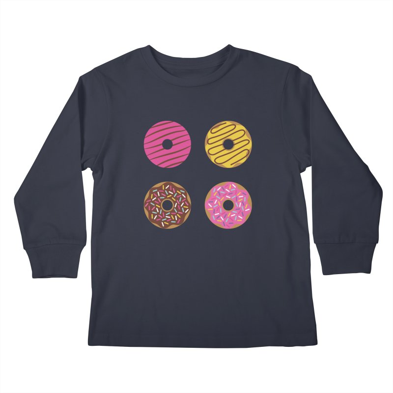 Sweet Donuts Pattern Kids Longsleeve T-Shirt by abstractocreate's Artist Shop
