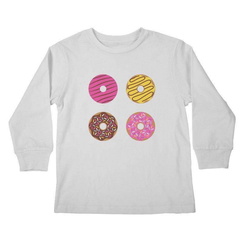 Sweet Donuts Pattern Kids Longsleeve T-Shirt by abstractocreate's Artist Shop