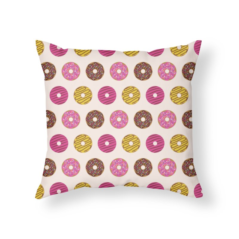 Sweet Donuts Pattern Home Throw Pillow by abstractocreate's Artist Shop