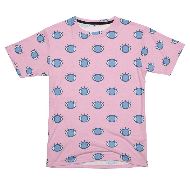 Blue Eyes Pattern Women's Unisex French Terry T-Shirt Cut & Sew by abstractocreate's Artist Shop