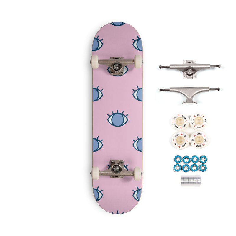 Blue Eyes Pattern Accessories Complete - Premium Skateboard by abstractocreate's Artist Shop