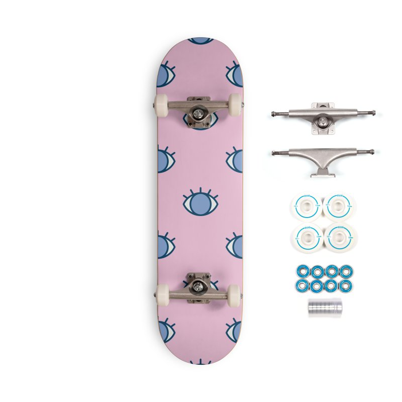 Blue Eyes Pattern Accessories Skateboard by abstractocreate's Artist Shop