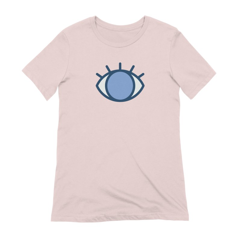 Blue Eyes Pattern Women's Extra Soft T-Shirt by abstractocreate's Artist Shop