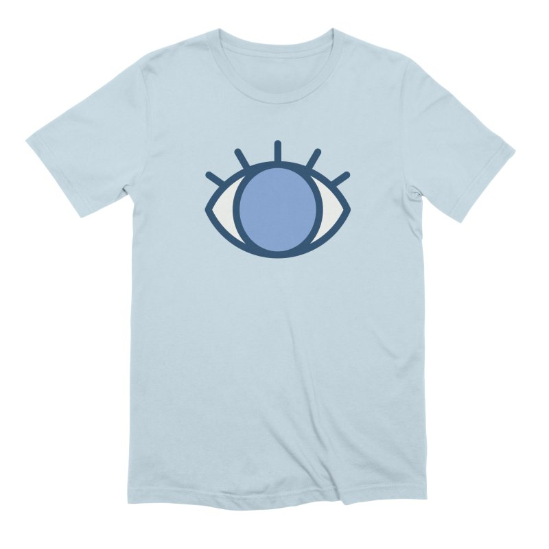 Blue Eyes Pattern Men's Extra Soft T-Shirt by abstractocreate's Artist Shop