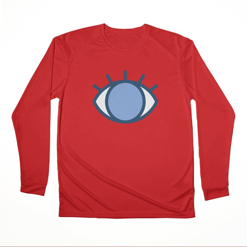 Blue Eyes Pattern Women's Performance Unisex Longsleeve T-Shirt by abstractocreate's Artist Shop