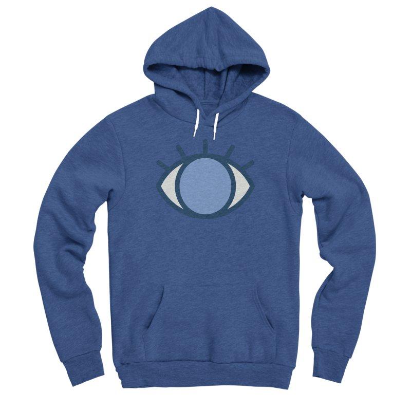 Blue Eyes Pattern Men's Sponge Fleece Pullover Hoody by abstractocreate's Artist Shop
