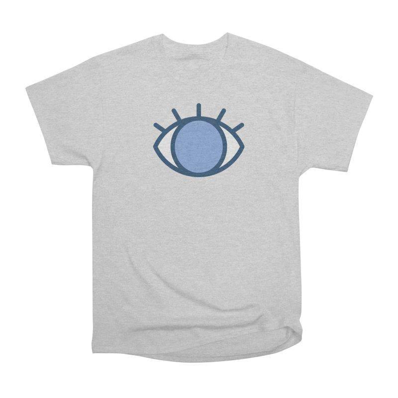 Blue Eyes Pattern Women's Heavyweight Unisex T-Shirt by abstractocreate's Artist Shop