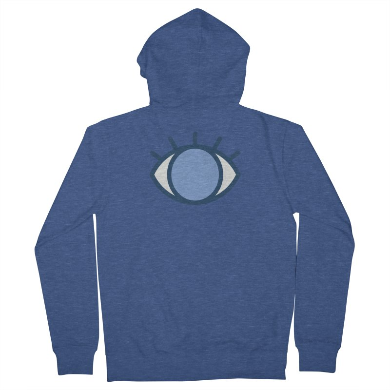 Blue Eyes Pattern Women's French Terry Zip-Up Hoody by abstractocreate's Artist Shop