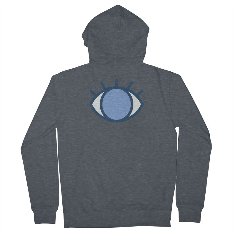 Blue Eyes Pattern Men's French Terry Zip-Up Hoody by abstractocreate's Artist Shop