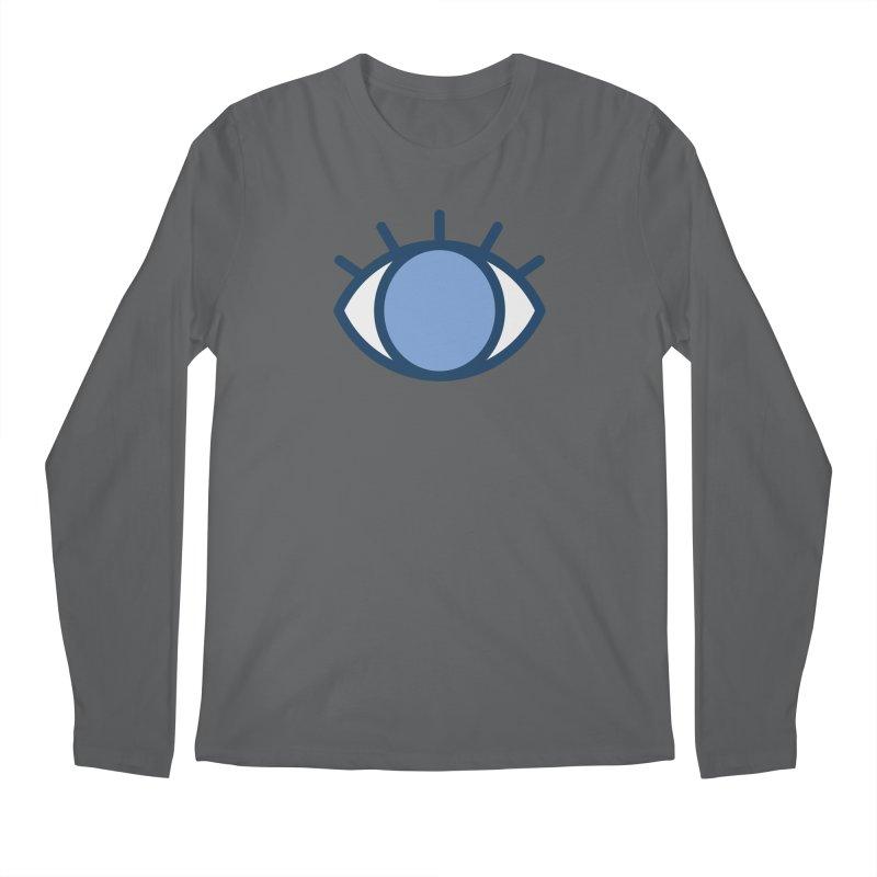 Blue Eyes Pattern Men's Longsleeve T-Shirt by abstractocreate's Artist Shop
