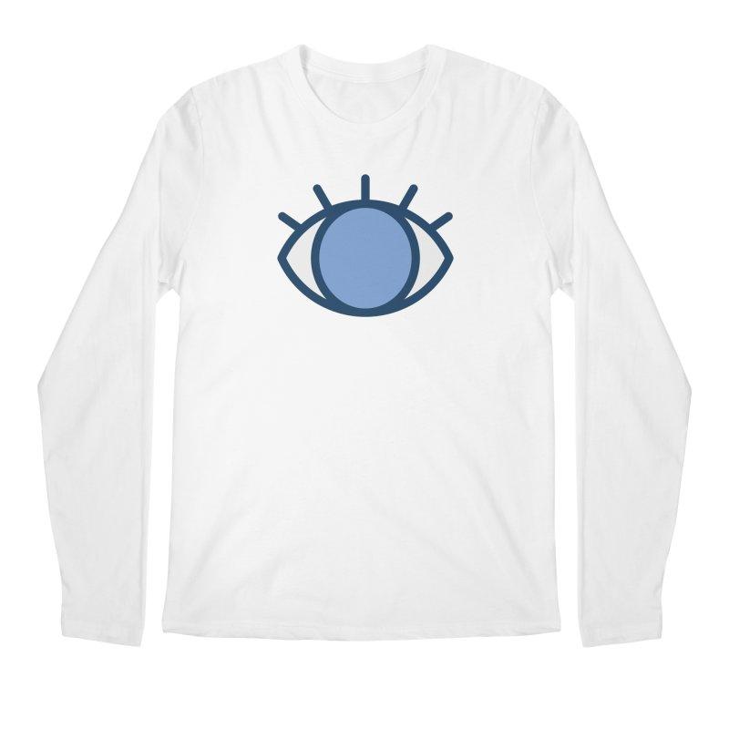 Blue Eyes Pattern Men's Regular Longsleeve T-Shirt by abstractocreate's Artist Shop