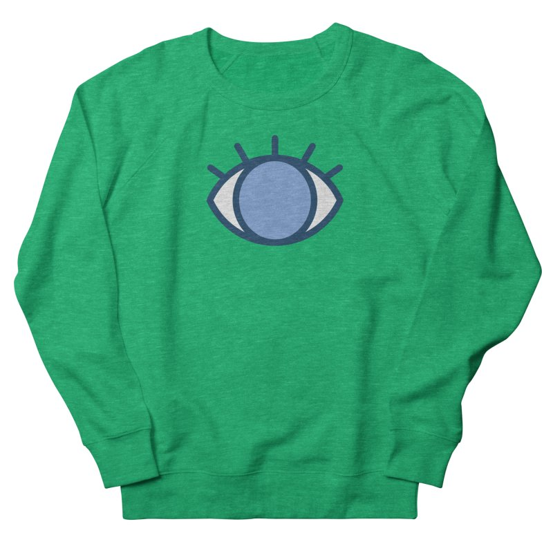 Blue Eyes Pattern Women's French Terry Sweatshirt by abstractocreate's Artist Shop