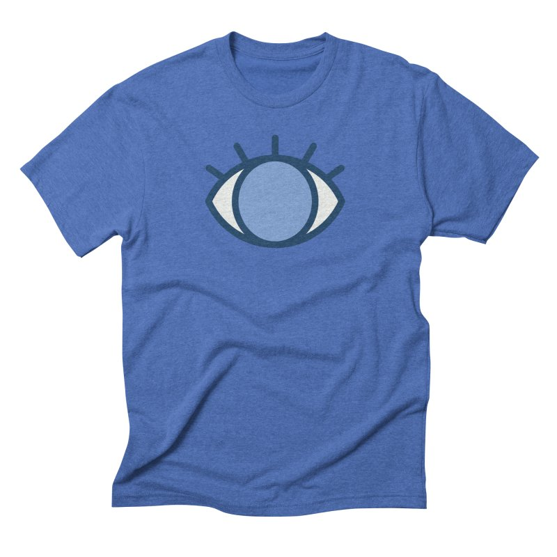 Blue Eyes Pattern Men's Triblend T-Shirt by abstractocreate's Artist Shop