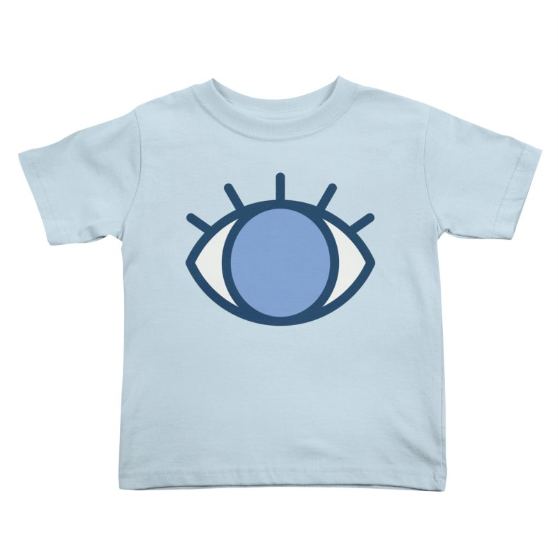 Blue Eyes Pattern Kids Toddler T-Shirt by abstractocreate's Artist Shop
