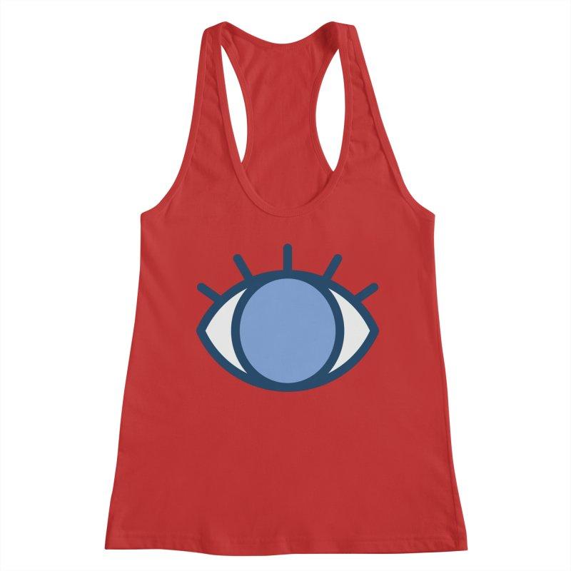 Blue Eyes Pattern Women's Racerback Tank by abstractocreate's Artist Shop