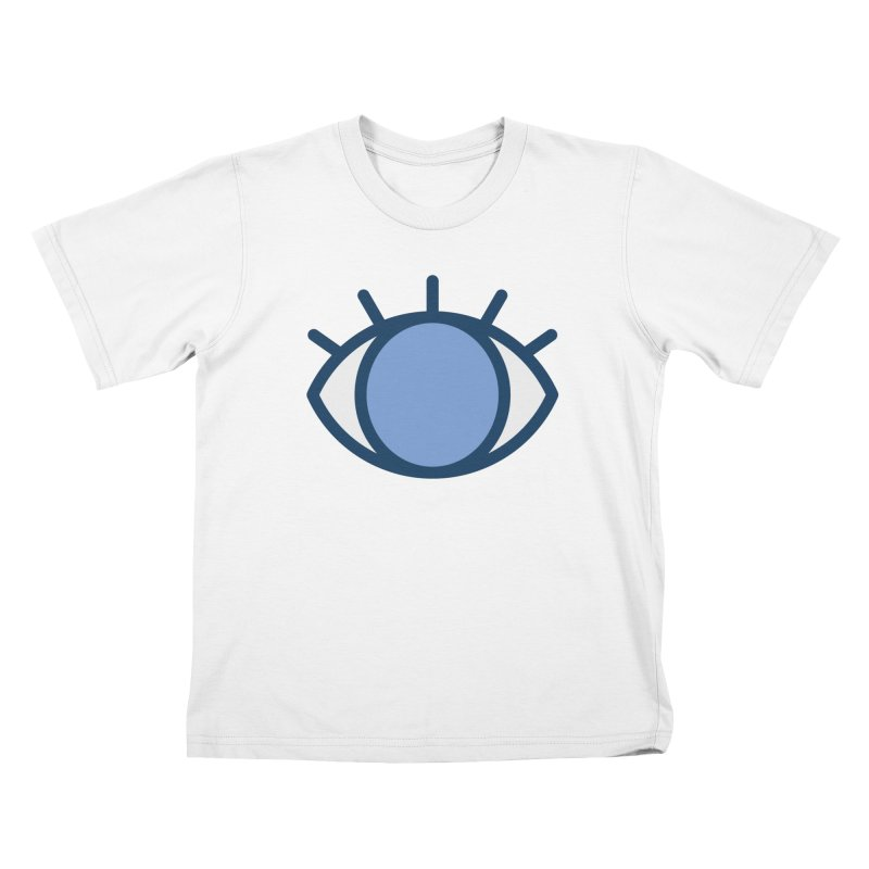 Blue Eyes Pattern Kids T-Shirt by abstractocreate's Artist Shop
