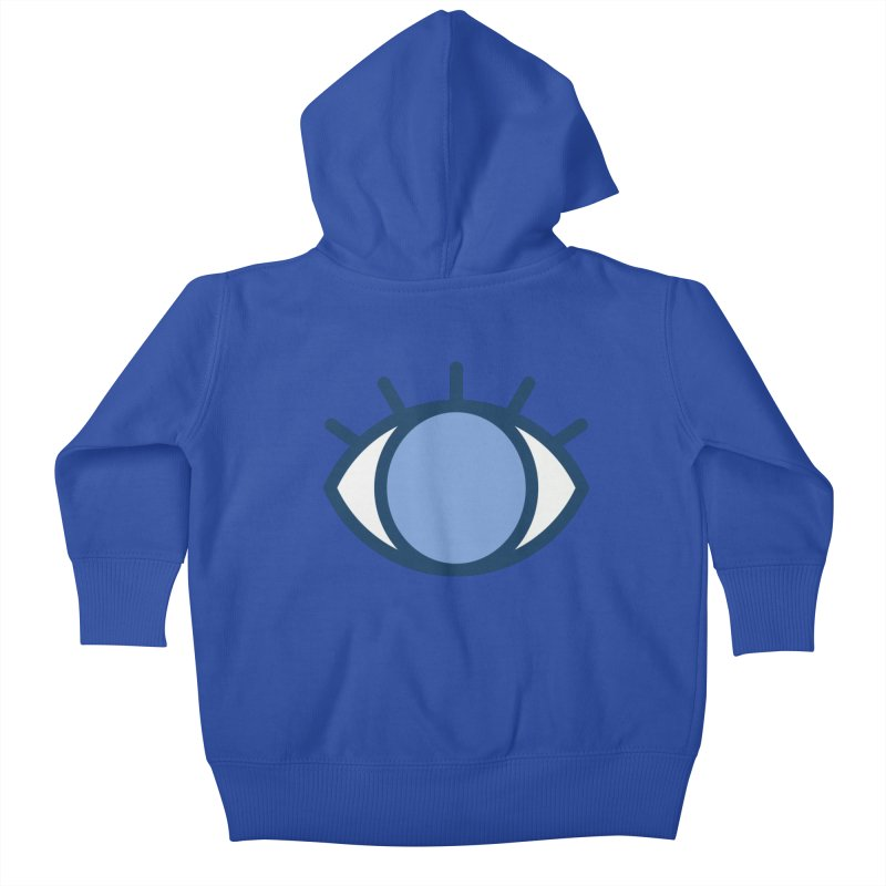 Blue Eyes Pattern Kids Baby Zip-Up Hoody by abstractocreate's Artist Shop