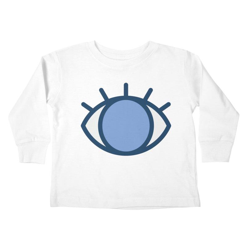 Blue Eyes Pattern Kids Toddler Longsleeve T-Shirt by abstractocreate's Artist Shop