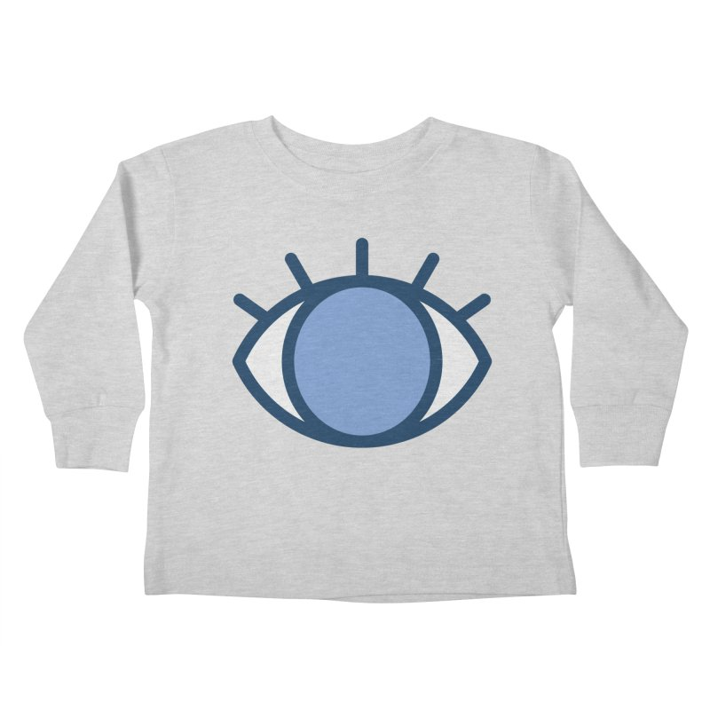 Blue Eyes Pattern Kids Toddler Longsleeve T-Shirt by abstractocreate's Artist Shop