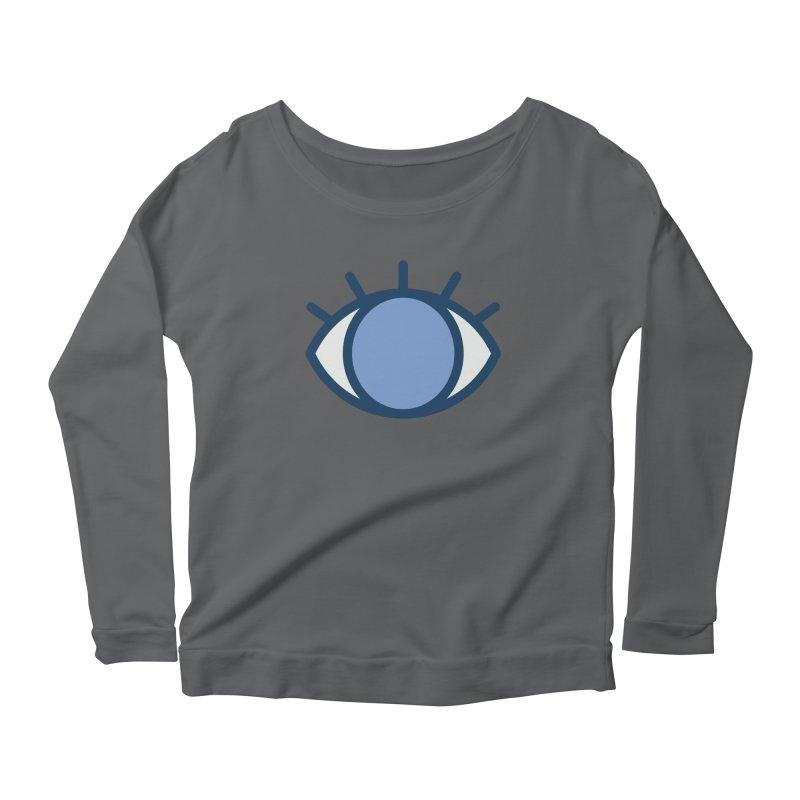 Blue Eyes Pattern Women's Scoop Neck Longsleeve T-Shirt by abstractocreate's Artist Shop